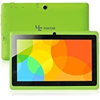 Yuntab Q88 7 Inch Allwinner A33,1.5 Ghz Quad Core Google Android Tablet PC,512MB+8G,Dual Camera,WiFi,Bluetooth,Mini USB,G-Sensor,Support SD/MMC/TF Card(Green)