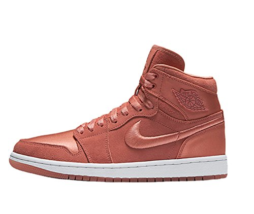 NIKE Women's Air Jordan 1 Retro High Summer Of High Shoe Sunblush/White/Metallic Gold (5.5 B(M) US) by NIKE