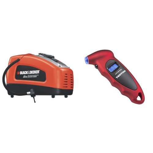 Black & Decker ASI300 Air Station High Performance Inflator with TEKTON 5941 Digital Tire Gauge