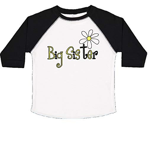 inktastic - Sister with Daisy Toddler T-Shirt 2T White and Black 59fc