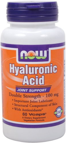 NOW Foods Acide Hyaluronique 100mg 2X Plus, 60 Vcaps