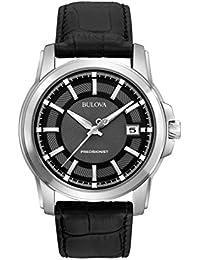 Men's 96B158 Precisionist Leather Strap Watch