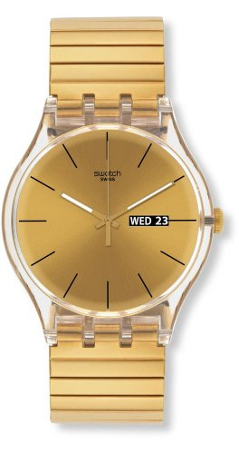 Swatch Women's SUOK702B Dazzling Light Gold Plastic Watch ()