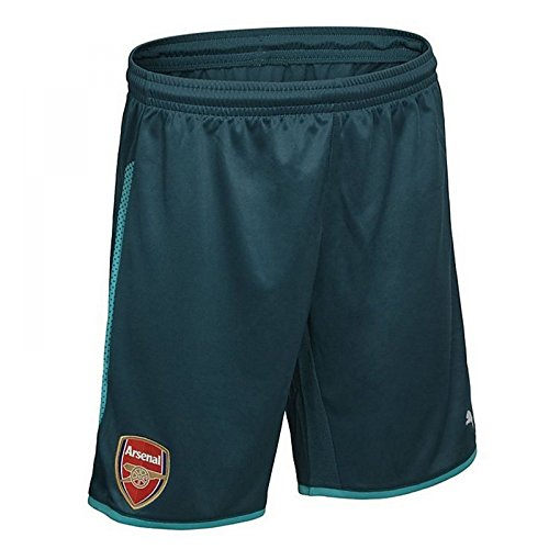 PUMA 2017-2018 Arsenal Home Goalkeeper Shorts (Deep Teal) - -