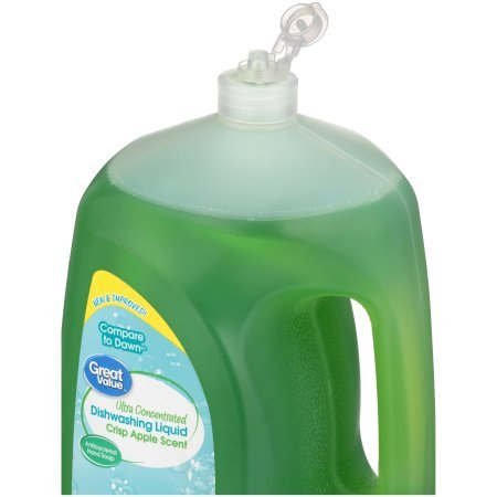 Great Value Ultra Concentrated Dishwashing Liquid, Crisp Apple Scent, 90 oz, Pack of 2