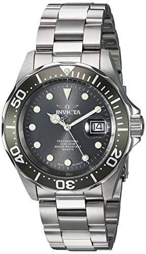 (Invicta Men's 17055 Pro Diver Analog Display Swiss Quartz Silver Watch)