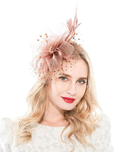 Flower fascinator hats for women