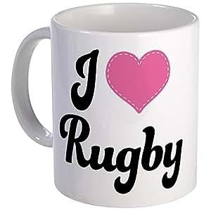 CafePress - I Love Rugby Mug - Unique Coffee Mug, Coffee Cup