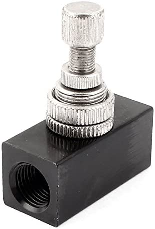 uxcell 1/4BSP スピードコントローラー 空気圧スピードコントローラー RE-02