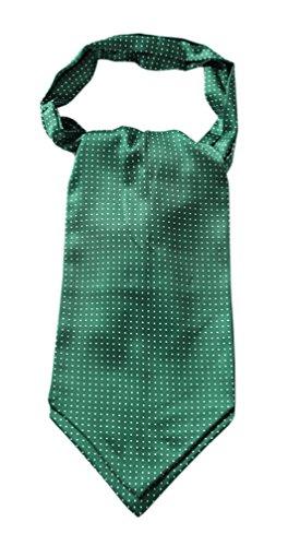Enmain Men's Ascot Dot Pattern Jacquard Woven Gift Cravat Tie -