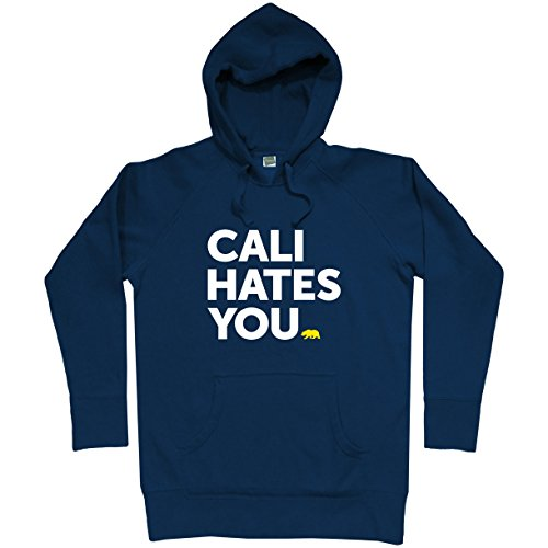 Smash Vintage Men's California Hates You Hoodie - Navy, Large