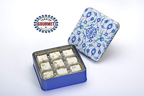 Turkish Gourmet Gift Box Turkish Delight with Creamy Double Pistachio Delight with Coconut 4.4 oz
