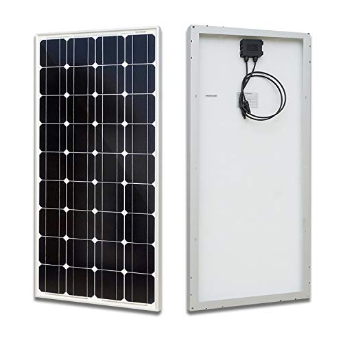 ECO-WORTHY 100 Watt Solar Panel 12 Volts Monocrystalline Solar Panel High Efficiency Mono Module RV Marine Boat Off Grid (Solar Panel Hook Up)