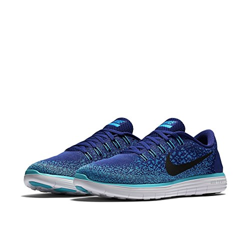 Nike Men's Free Rn Distance Running Shoe (10 D(M) US, Deep Royal Blue/Black/Heritage Cyan)