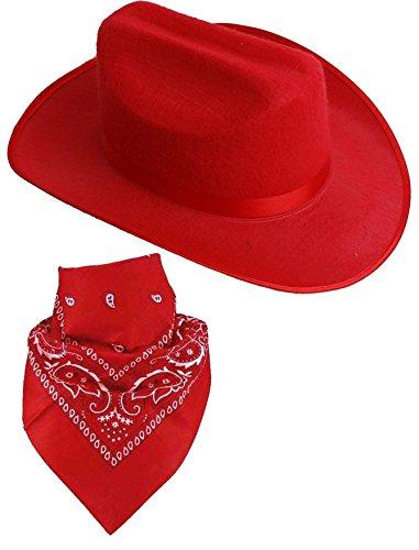 Cowgirl Hat Cowboy Paisley Bandana