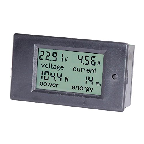 bayite DC 6.5-100V 0-20A LCD Display Digital Ammeter Voltmeter Multimeter Current Voltage Power Energy Battery Monitor Amperage Meter Gauge with Built-in Shunt