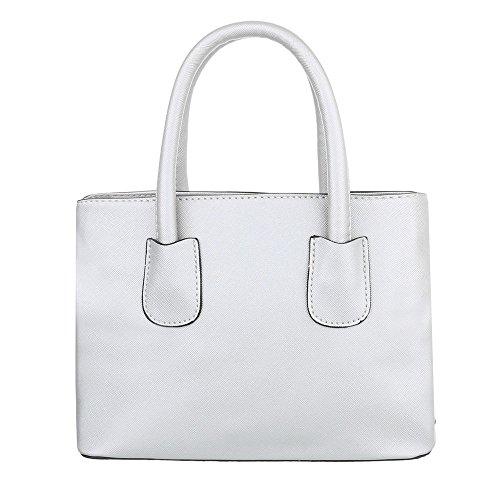 Schuhcity24 Taschen Handtasche Silber soMMjfdgO5