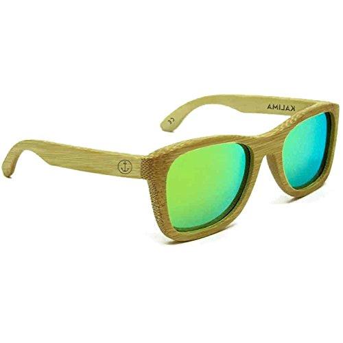 vert taille de soleil Kalima Green Lunettes bois une en Y1wRUq