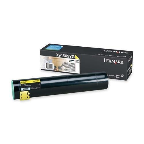 LexmarkTM - X945X2YG High-Yield Toner, 22000 Page-Yield, Yellow - Sold As 1 Each - Creates eye-pleasing text and images. (High Toner X945x2yg Yield)