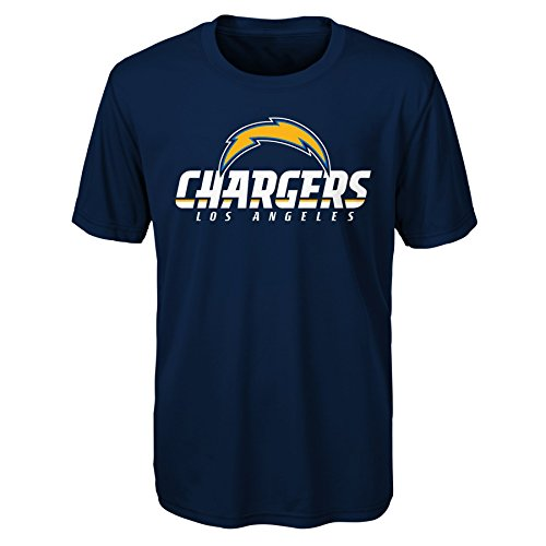 NFL LA Chargers Youth Boys Goal Line Stand Performance Tee Navy, Youth X-Large(18)