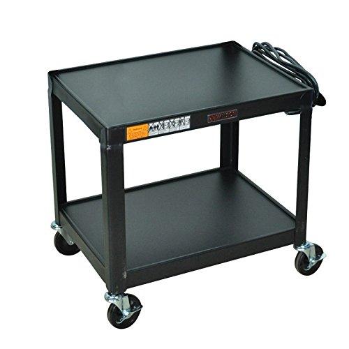 (Luxor Multipurpose W26E 2 Shelves Fixed Height Steel A/V Cart - 26