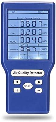 Medidores de CO2 ppm multifuncionais Mini Detector de Dióxido de Carbono Analisador de Gás Protable Tester Qua