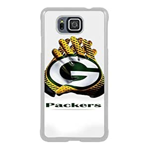 Lovely And Unique Designed Case For Samsung Galaxy Alpha With Green Bay Packers 2 White Phone Case