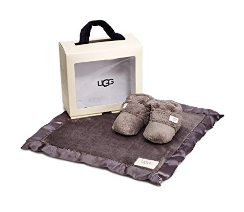 UGG Baby I I BIXBEE and Lovey Gift Set, Charcoal, 0/1 M US Infant