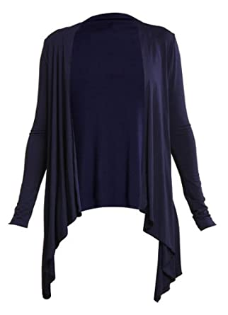 ladies navy waterfall cardigan: Amazon.co.uk: Clothing