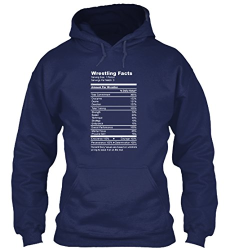 [Teespring Unisex Wrestling Facts Funny Wrestler Nutrition Guide Quote Gildan 8oz Heavy Blend Hoodie Large] (Pun Costumes For Guys)