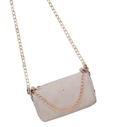 lookatool-fashion-women-leather-chain-handbag-cross-body-single-shoulder-phone-coin-bag-gray