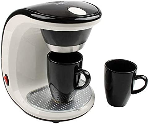Mini Electric Goteo Cafetera de Hogares semiautomática de elaboración de la Cerveza del pote del té Americana Cafetera Espresso Copa 2 DDLS: Amazon.es: Hogar