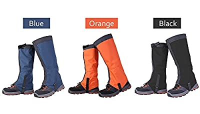 WATERFLY 1 Pair Leg Gaiters Waterproof Snow proof Windproof Durable 420D Nylon Leggings Cover Ultra-light Portable High Gaiters for Climbing Hunting Hiking Walking