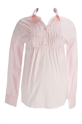 Olian Maternity Women's Smocked Front Button Down Blouse X-Small ()
