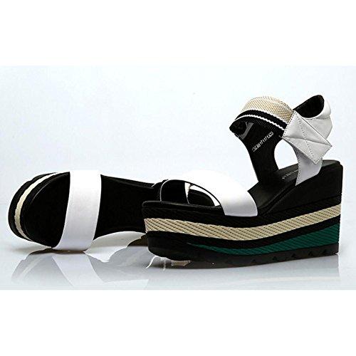 Plataforma White Tacón De Simples Sandalias Rojas Negras Sandalias Plataforma Blancas para De Cuña Alto De De Cuero Y Zapatos Sandalias Zapatos Plataforma De Mujer De 8xqwSYP