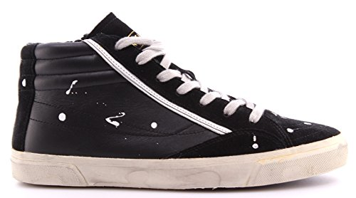 Scarpe Uomo Sneakers Alte BIKKEMBERGS BKE 108249 Rubber 518 Leather Suede Black Nero