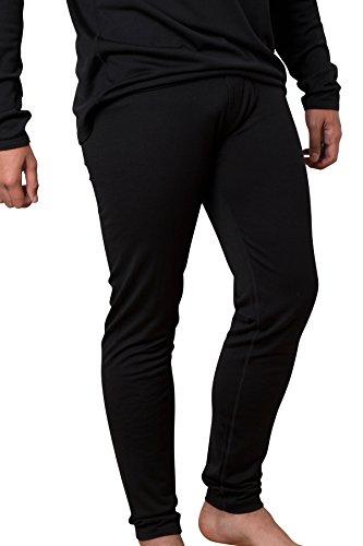Cold Snap Merino, Slim Pant, Midweight, 210 GSM, 100% Merino Wool, Black, Med ()