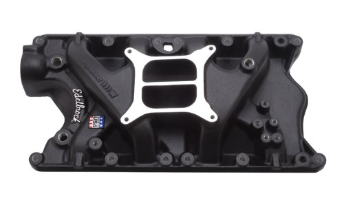 Edelbrock 21813 Performer 351-W Intake Manifold; Black; Non-EGR; Idle-5500rpm; For 4 bbl Carbs; ()