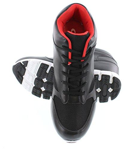 calto–g333210,2cm größer die Höhe Steigerung Aufzug Schuhe (schwarz/rot Top Sneaker Sneakers)