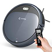 #AmazonGiveaways Coredy Robot Vacuum Cleaner, 1400Pa Super-Strong Suction, Ultra Slim, Automatic Self-Charging Robotic Vacuum for Cleaning Hardwood Floors, Medium-Pile Carpets, Filter for Pet, Easy Schedule Cleaning