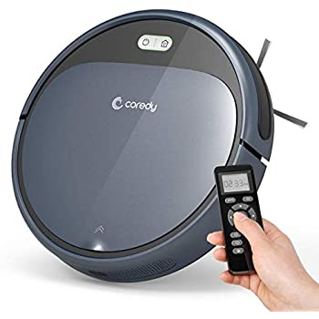 Coredy Robot Vacuum Cleaner, 1400Pa Super-Strong Suction, Ultra Slim, Automatic Self-Charging Robotic Vacuum for Cleaning Hardwood Floors, Medium-Pile ...