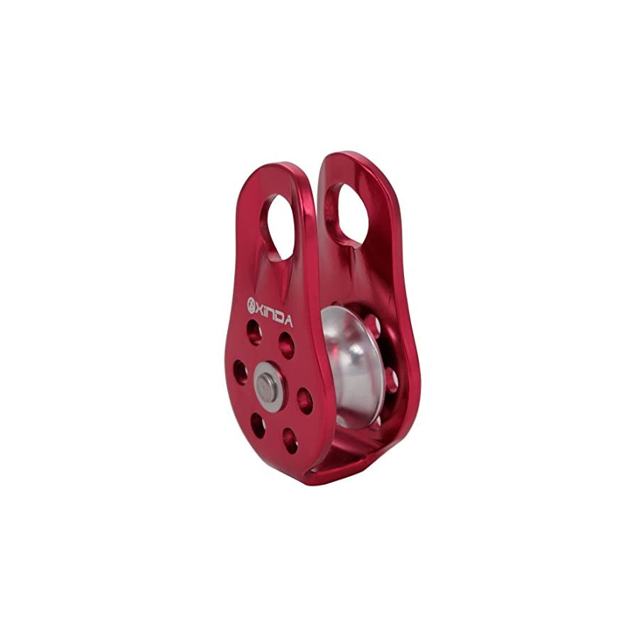 Zowaysoon 20KN Fixed Single Climbing Pulley for 13mm Rope Rescue Lifting Aluminum Rope Pulley