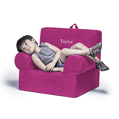Jaxx Julep Personalized Kids Chair - With Custom Embroidery, Fuchsia by Jaxx