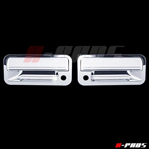 A-PADS 2 Chrome Door Handle Covers for Chevy C10 Pickup 1988-1998 / S10+S10 BLAZER 1992-1995 / TAHOE 1995-1999 / SUBURBAN 1992-1999 / & GMC YUKON 1992-1999 - WITH Passenger (1992 92 Chevy S10 Pickup)