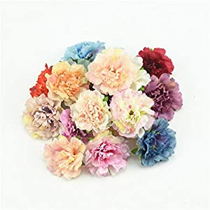 GSD2FF 10pcs 4.5cm Artificial Silk Flowers European Fall Vivid Peony Wedding Home Party Decoration Peony 56