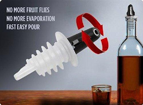 (Pouro Plastic Liquor Pour Spout 12 Pk - Twist Open and Closed)