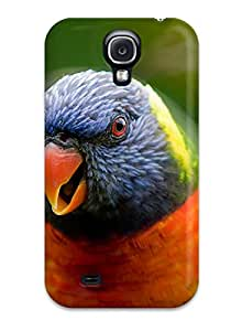 Cleora S. Shelton's Shop For Galaxy Case, High Quality Rainbow Lorikeet Parrot For Galaxy S4 Cover Cases 4578933K93381732