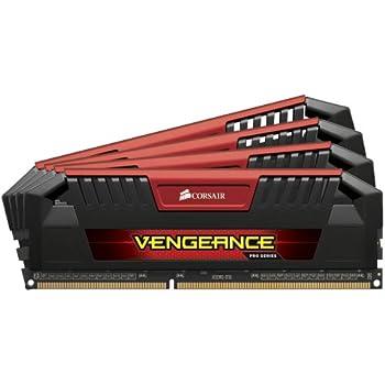Corsair Vengeance Pro Series 32GB (4 x 8GB) DDR3 DRAM 2400MHz (PC3 19200) C11 Memory Kit (CMY32GX3M4A2400C11R)
