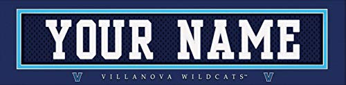Villanova Wildcats College Jersey Nameplate Wall Print, Personalized Gift, Boy's Room Decor 6x22 Unframed Poster ()