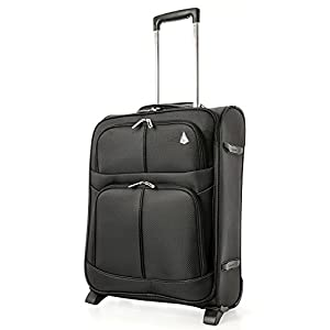 Aerolite Expandable Cabin Luggage Suitcase 55x40x20 to 55x40x23cm 2 Wheel Carry On Hand Luggage, fits Ryanair easyJet…
